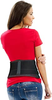 Best AidBrace Back Brace for Lower Back Pain Relief for Men & Women - Comfortable Belt Support for Herniated Disc, Sciatica, and Scoliosis with Removable Lumbar Pad (Small/Medium) Review