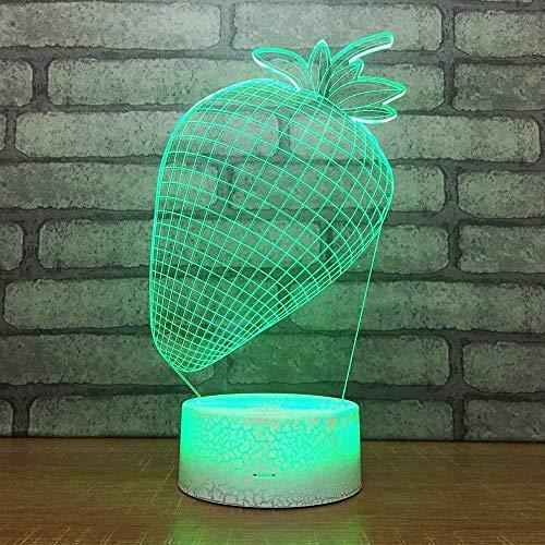 3D illusie Night Light Bluetooth Smart Control 7 en 16M Color Mobile App LED Vision Box Model C kunst decoratie voor thuis verjaardag business acryl Halloween kinderkamerdecoratie