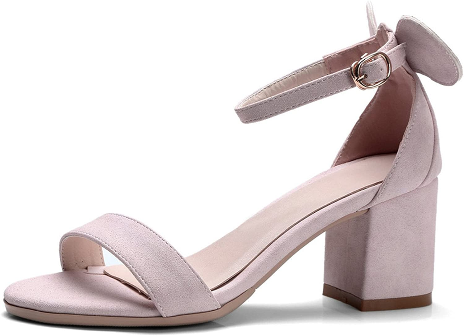 Twinkle UU Sandals Square High Heel Sandals Sweet Bow Platform Women shoes Summer Ankle Strap shoes