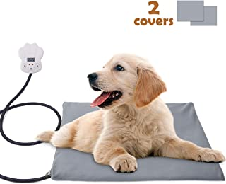 Sotical Pet Heating Pad, Electric Heating Pad for Cats and Dogs Waterproof Warming Mat with Chew Resistant Cord Soft Remove Cover Overheat Protection (11.8