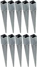 Baumarktplus 12x Einschlagbodenh/ülse Zaunpfosten Einschlagh/ülse 34mm Bodenh/ülse Zaunpfahl Bodeneinschlagh/ülse Pfosten