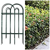 Amagabeli Decorative Garden Fence 32inx20ft Rustproof Green Iron Landscape Wire Folding Fencing Ornamental Panel Border Edge Section Edging Patio Fences Flower Bed Outdoor FC02