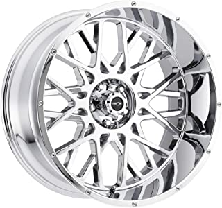 Vision Wheel Rocker Style: 412 RWD Finish: Chrome. Wheel Size Inches: 20X12PCD: 8-170Load Rating Lbs. 3650 Offset MM: -51
