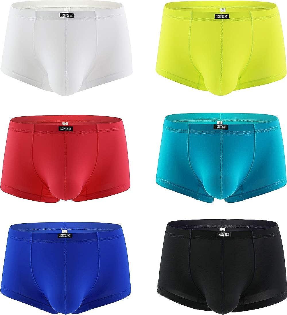 iKingsky Men's Bluge Boxer Briefs U-Hance Pouch Mens Stretch Underwear