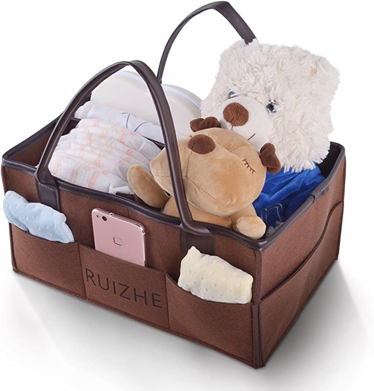 Diaper Caddy Great Registry Shower Gift Nursery Storage Bin Tote Bag For Car Travel And Portable Organizer