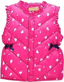 Weixinbuy Baby Girls' Heart Pattern Winter Warm Coat Jacket Outwear Clothes