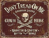 なまけ者雑貨屋 DTOM - Gun For Hire アメリカン 雑貨 アンティーク インテリア プレート ブリキ メタル 看板