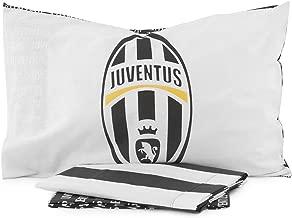 Cotone Juventus Completo Letto 180 x 295 cm//130 x 200 cm//52 x 80 cm Bianco//Nero
