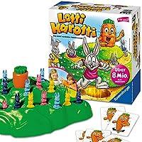 Ein lustiges Brettspiel für Klein und Groß. Dieses Spiel ab 4 Jahren ist ein großer Spaß für die ganze Familie: Die Spieler decken Karten auf, um mit ihren Hasen den Berg hinauf zu hüpfen - Wer als erstes mit seinem Hasen bei der Karotte ankommt, hat...