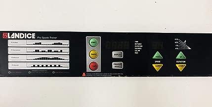 Landice Display Console Overlay Panel 12 Pin Works L7 Pro Sports Trainer Treadmill