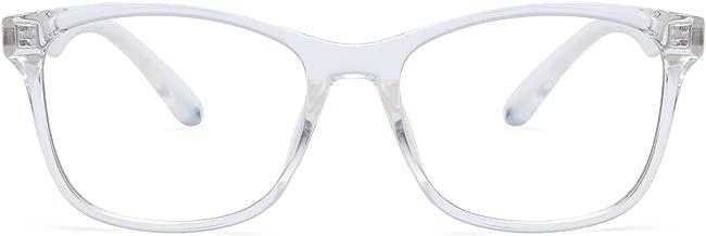 JIM HALO Square Blue Light Blocking Computer Glasses Reduce Eye Strain Anti Glare Clear Lens Video Eyeglasses Men Women