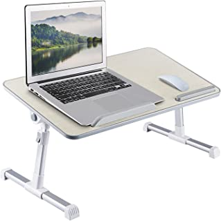 Foldable Laptop Desk with Fan, Adjustable Angle, Laptop Stand with Adjustable Legs for Reading & Writing in Bed, Premium L...