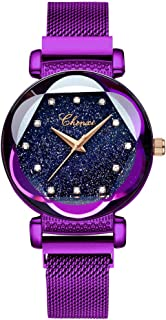 Luxury Women Watches Analog Quartz Watch Magnetic Buckle Mesh Band Waterproof Wrist Watches for Ladies
