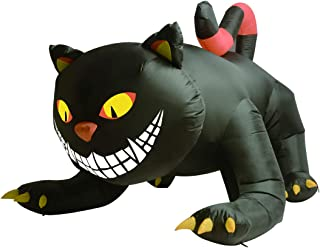 GOOSH Halloween Blow up inflatables Animated Witch's Cat-6ft Long (6 Foot Animation Black Cat)