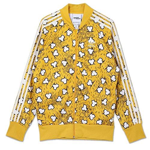 adidas Originals JEREMY SCOTT JS Bones TT huesos esqueleto Chaqueta m69820Amarillo amarillo Small 🔥