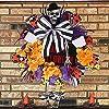 秋の頭蓋骨のドアの花輪、ハロウィーンの頭蓋骨の花輪の装飾、正面玄関の頭蓋骨の花輪のサイン、不気味なハロウィーンの花輪、ヴィンテージハロウィーン感謝祭の頭蓋骨の家の壁のドアの花輪の装飾