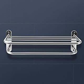 PrettyHome Towel Rack with Towel Bar 24-Inch Wall Mounted for Bathroom 304 Stainless Steel Chrome Polished