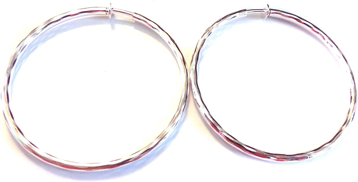 Clip Discount mail order on Earrings Hypoallergenic outlet Hoop Inch Silver Plat 3