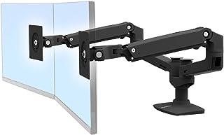エルゴトロン LX デスクマウント デュアル モニターアーム 横型 マットブラック 45-245-224