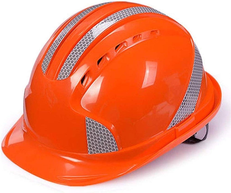 Centro comercial profesional integrado en línea. HEUFHU888 SHOP Casco de de de Seguridad - Projoección de la Cabeza del Sombrero Projoección del Equipo de construcción Construcción de Obras Trabajos eléctricos ( Color   naranja )  primera reputación de los clientes primero