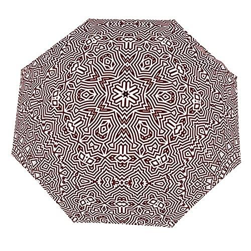 Paraguas a prueba de viento, paraguas plegable del viaje tres veces paraguas manual automático