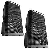 EV Electro-Voice ZLX-12P Pair of 12' 2-Way Powered 1000W Speakers