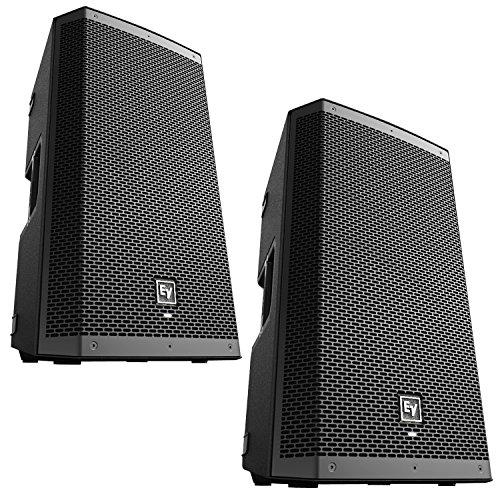 "EV Electro-Voice ZLX-12P Pair of 12"" 2-Way Powered 1000W Speakers"