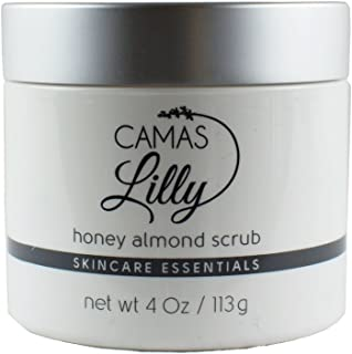 Honey Almond Scrub 4 oz - pH 5.5 for All Skin Types - Skin Brightening, Highly Detoxifying, Soothing, Nourishing, Exfoliating, Promotes Healing