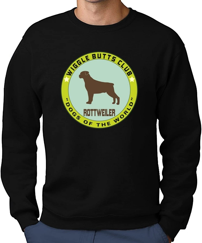 Teeburon redtweiler WIGGLE BUTTS BUTTS BUTTS CLUB Sweatshirt 5010ad