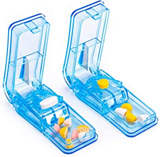 2 Packs Pill Splitters - Pill Cutters for Small or Large Pills with Sturdy Blade, Pill Splitter for Cutting Pills in Half,...