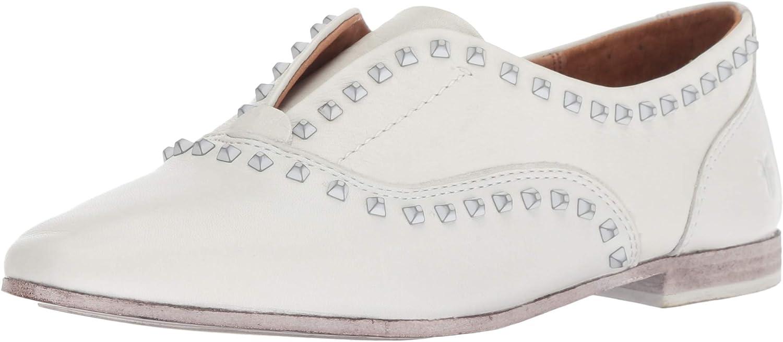 FRYE Woherren Terri Deco Stud Slip ON Driving Style Loafer, Weiß, 6.5 M US