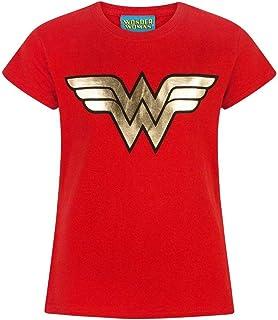 DC Comics Wonder Woman Foil Logo Girl's T-Shirt