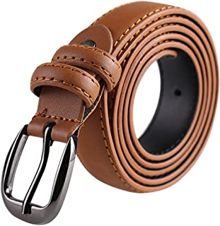 """uxcell® Women Leather Belt for Jeans Pants with Classic Alloy Buckle Width 1"""""""
