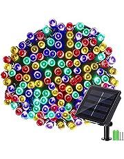 Geemoo Solar Lichtsnoer Buiten, 22M 200 LED Lichtsnoeren voor buiten, 8 modi, IP65 waterdicht lichtketting, Decoratieve verlichting voor Buiten tuin, bomen, terras, Meerkleurig