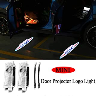 Bailunte 2PCS LED Car Door Logo Light Emblem Projector Ghost Shadow Welcome Light for Mini Cooper One S R55 R57 R58 R59 R60 Clubman Countryman JCW F55 F56 R56 R61 Roadst Accessories