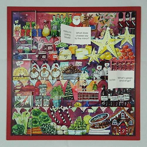 Swiss Kiss Foodie Fun Christmas FoodsAdventskalender 290 x 290 mm mit Bildern und Corny Food Witze