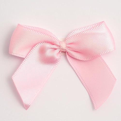 5cm Satin Bows (Self Adhesive) - 12 Pack - Pale Pink 0dc63671f5d