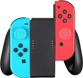 Komfortgrepp kompatibelt med switch Joy Con Controller, switch Joy-Con handgrepp (svart)