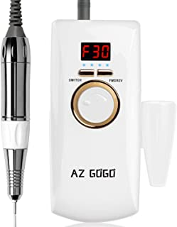 AZ GOGO Rechargeable Portable Nail Drill Machine, 30000 rpm Efile Nail Drills for Acrylic Nails, Manicure/Pedicure, Gel Nails, Cuticle - Salon Use or Home DIY