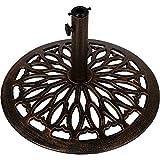 Maxstore Sonnenschirmständer aus Gusseisen, 15kg, Farbe: Bronze