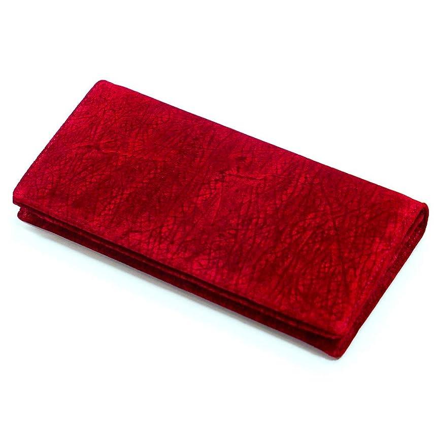 浸す湿気の多いアナニバーHIPP1075-2RED 長財布 メンズ かぶせ 本革 札入れ 無双仕様 通しまち 小銭入れなし 長札 大容量 ヒポポタマス カバ革 赤 レッド 2