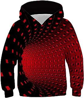 uideazone Felpa con Cappuccio per Ragazze Ragazzi Stampa 3D Felpe per Bambini Manica Lunga Pullover Adolescente Sweatshirt...