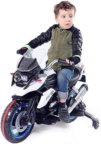 Lvbeis Enfants Moto éLectrique Musique Motocross 6v Batterie Musical VéHicule avec LumièRe LED BéBé Motocyclette