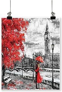 Rich in coloroil Paint on vas Street London Artwork Ben Print Decor for Living Room,32