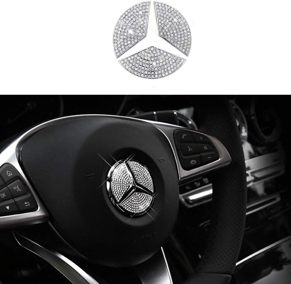 TopDall Steering Wheel Bling Crystal Emblem Accessory Interior D