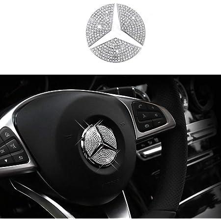 GLA B,C For 45 mm Diameter CLA ML GL GLE S Exotic Store MB-C45 Crystal Rhinestone Bling Insert Steering Wheel Center Logo Emblem Badge For Mercedes-Benz A GLC,GLK Class Emblem E