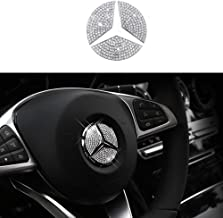 TopDall Steering Wheel Bling Crystal DIY Accessories Silver Sticker for Mercedes Benz