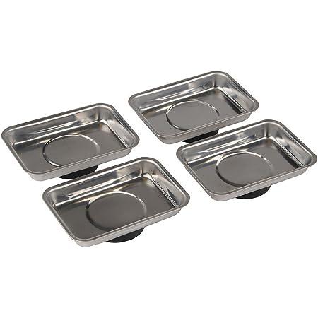 Silverline 250007 Lot de 4 plateaux magnétiques 95 x 65 mm
