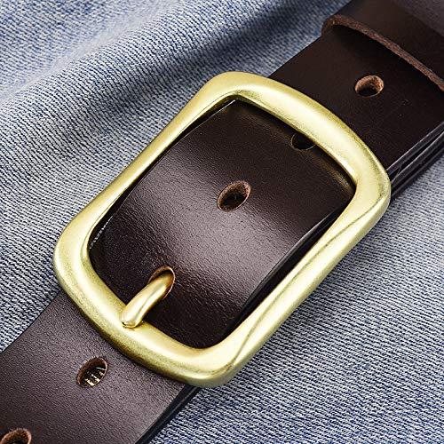 longhua Cinturón Regalo de San Valentín para Hombres Primera Capa Cinturón de Cuero Primera Capa Cobre