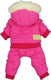 Fitwarm Waterproof Pet Clothes for Dog Windproof Jackets Outdoor Fleece Hooded Coats Pink